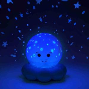 Luce notturna Polipo Blue Proietta Stelle Pesci e Bolle Cloud B