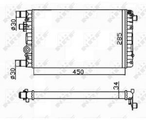 RADIATORE FIAT - 53602