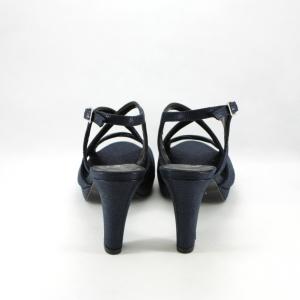 Sandalo donna in colore blu notte effetto vintage.