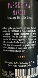 Vino Passerina Marche IGT - 75cl