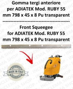 RUBY 55 - GOMMA TERGI anteriore per lavapavimenti ADIATEK