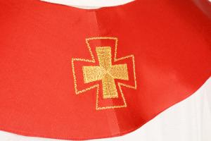 Stola S15 M1 Rossa - Faille Misto Lana