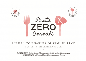 Zero Cereal Fusilli with Linseed Flour. No Gluten - No Legumes - No Dairy Products