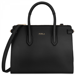 Hand and shoulder bag Furla PIN 924576 ONYX