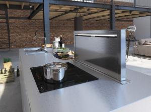 Cucina moderna bianca laccata opaca