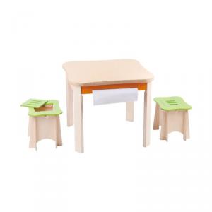 Set tavolo da disegno e sgabelli Kiddyrooms Udeas