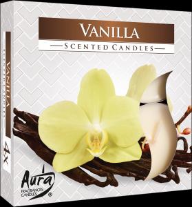 Maxi Tea Lights  nelle profumazioni Arancia-Vaniglia-Fragola-Rosa-Lavanda-Tea Verde in confezione da Pz 4