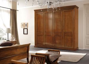 Camera matrimoniale in legno arte povera