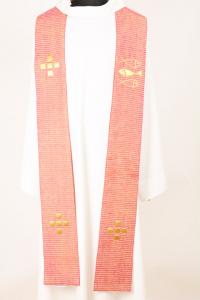 Stola S60 M1 Rossa - Seta greggia