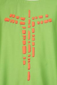 Casula Concelebrazione CE115T Verde - Pura Lana