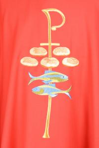 Casula Concelebrazione CE19BT Rossa - Pura Lana