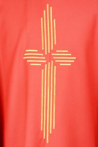 Casula Concelebrazione CE11T Rossa - Pura Lana