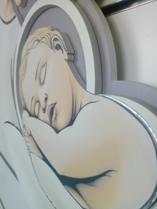 Capoletto-Capezzale Madonna con Bambino dell'artista  Luigi Pesaresi cm. 50 x 70