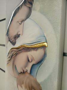 Capoletto Sacra Famiglia cm. 50 x 28 stile moderno Estego