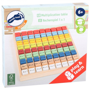 Tabellina colorata Calcolo in legno per imparare moltiplicazioni Gioco didattico Educate