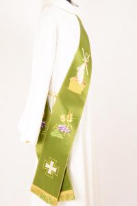 Stola Diaconale SD2 M0 Verde - Faille Misto Lana