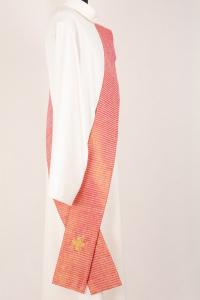 Stola Diaconale con Perle SPD310 M1 Rossa - Seta Greggia Lurex