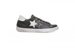 Sneaker 2star low nero/bianco