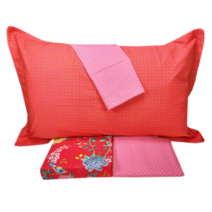 Double bed sheet set PIP STUDIO Good Night red bedspread effect