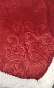 Plaid in pile singolo 160x210 cm Mary jacquard agnellato rosso