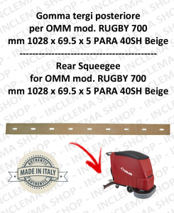 RUGBY 700 gomma tergi posteriore per lavapavimenti OMM