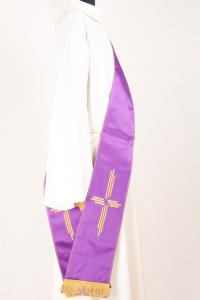 Stola Diaconale SD8 M0 Viola - Faille Misto Lana