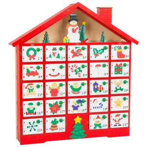Calendario dell'Avvento in legno Motivi natalizi