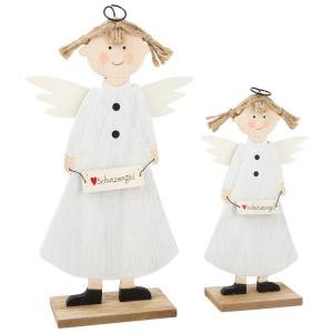 Angeli custodi decorativi in legno Decorazione Natalizia