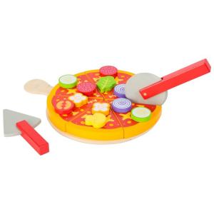 Set pizza da tagliare in legno Accessorio per cucina giocattolo