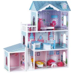 Casa delle bambole in legno Villa Deluxe
