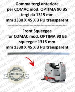 Gomma tergi anteriore tergi da 1315 mm per lavapavimenti COMAC tergipavimento OPTIMA 90 BS