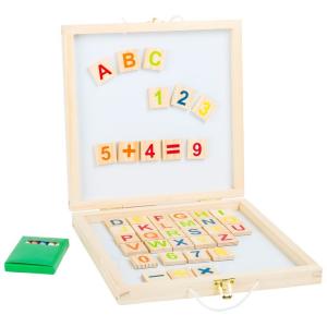 Lavagna magnetica in scatola Lettere e numeri
