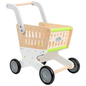 Carrello della spesa giocattolo in legno Alla moda