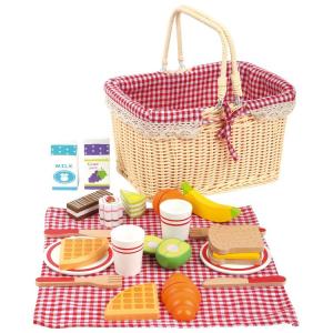 Cestino da picnic Colazione con accessori in legno
