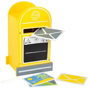 Cassetta della posta con accessori gioco in legno per bambini