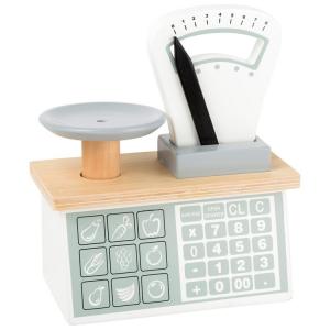 Bilancia in legno Accessorio giocattolo cucina bancarella