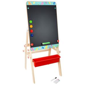 Tavolo lavagna 2 in 1 in legno Imparare giocando