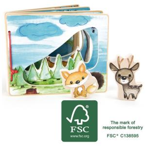 Libro illustrato interattivo per bambini Nella foresta