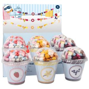 Display perline in legno da infilare Cupcake Candy