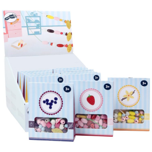 Display perline in legno da infilare Dolciumi Candy