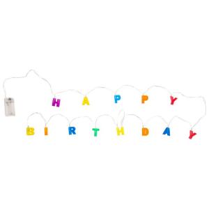 Happy Birthday Catena di luci luminose feste compleanno
