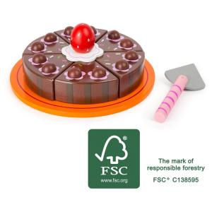 Torta di cioccolato da tagliare Accessorio cucina giocattolo