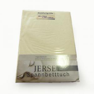 Lenzuola con angoli in maglina di cotone estensibile jersey fino a 200 x 200 beige