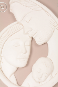 Quadro Capoletto Sacra Famiglia Riccioli Bianco 596CB1 80xh40 cm