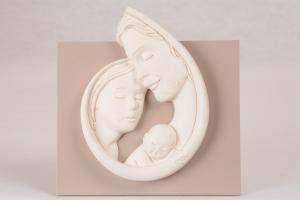 Quadretto Sacra Famiglia Bianco Luna 5961B 12,5x13 cm