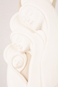 Bassorilievo Sacra Famiglia Bianco Luna 4763B 41,5x17,5 cm