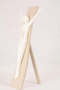 Bassorilievo Cristo Kenosis Bianco Luna 4733B 40x18,5 cm