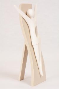 Bassorilievo Cristo Kenosis Bianco Luna 4732B 24x13 cm