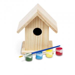 Casetta per uccellini in legno da colorare BS Toys GA039