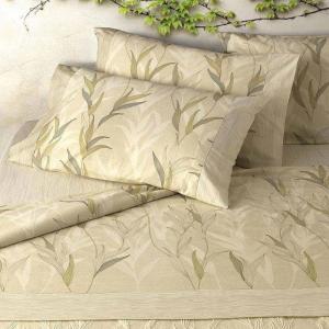 Set lenzuola matrimoniale 2 piazze Gabel in caldo cotone ALGAE naturale